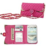 Rhinestone Handbag Series for Samsung Galaxy S2 I9100 Bling Shiny Glitter Teardrop shaped Diamond Crystal Flower Bloom Chain Belt Wallet Purse Bag Handbags Cell Phone Case mobile Cover Protect Skin with Credit Card Slot to Go Outside Shopping Walking (Ho
