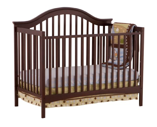 Stork Craft Ravena Fixed Side Convertible Crib, Espresso