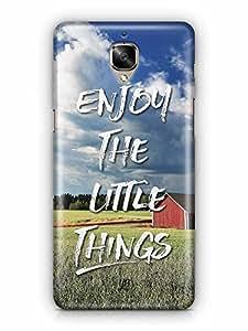 YuBingo Enjoy The Little Things Designer Mobile Case Back Cover for OnePlus 3