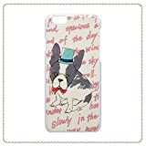 【フラワーリング】FLOWERING SC-379-WH シルクハットと蝶ネクタイでクールにきめたフレンチブルが可愛いiPhoneケース♪おめかしフレンチブル(ホワイト) [iPhone 6用]