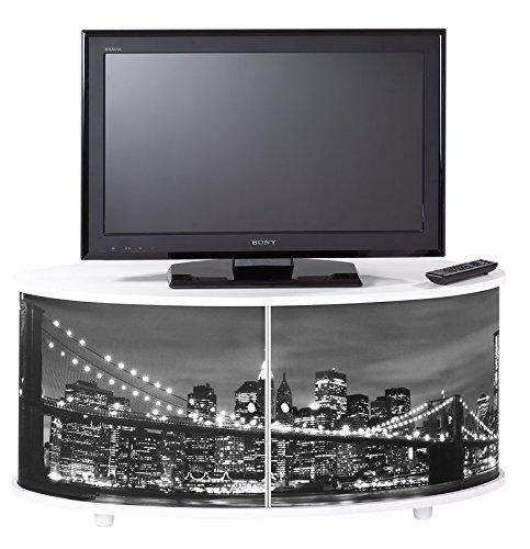 Mueble TV-nueva york-Puente de Brooklyn-blanco