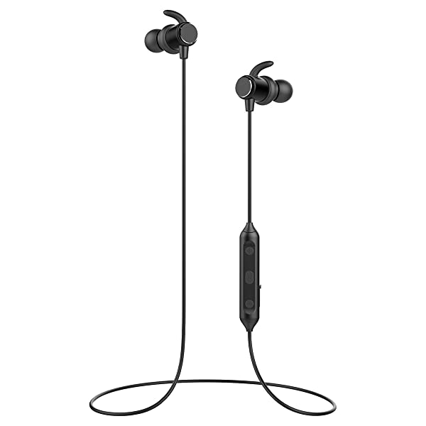 Magnetic Wireless Earbuds Bluetooth Sport Headphones with Mic In-Ear 9 hrs | IPX6 Waterproof Sweat Resistant | Noise Cancelling, High Fidelity Stereo,