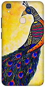 The Racoon Lean printed designer hard back mobile phone case cover for Vivo V3 Max. (Colours in)