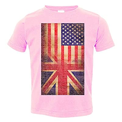 Toddler T-Shirt: Vintage USA British Distress Flag