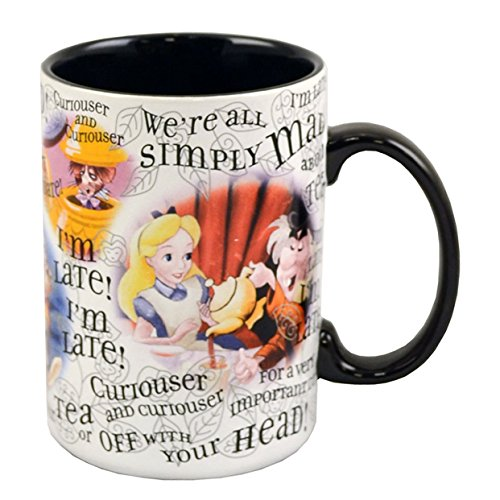 Disney Parks Exclusive Alice In Wonderland Character Coffee Mug