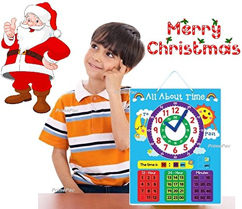 Time-Telling-Wall-Clock-Learning-System-Educational-Toys-for-Preschool-Toddlers-School-Clock-with-Metric-System-Preschool-Learning-Early-Learning-First-Time-Kids-Clock-Magnetic-Shape-Sorting