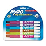 Expo Low Odor Dry Erase Pen Style Markers, 12 Colored Markers (86603)