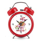 Modern Fashion Lovely Colorful Metal Alarm Clock Black NO