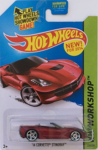 2014 Hot Wheels Hw Workshop '14 Corvette Stingray Convertible - [Ships in a Box!] - 1