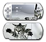 Cat Kitten Kitty Tabby American Shorthair Cute Design Video Game Vinyl Decal Skin Sticker Cover for Sony PSP Playstation Portable Slim 3000 Series System