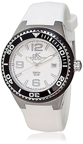 Adee Kaye Yatch ak2230SS-LIPB/WT 47.4x39.7mm Ceramic Case White Ceramic Mineral Women's Watch