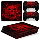 PRO Decal,PS4 PRO Skin Sticker Protection Cover Dustproof PVC Material for Playstation 4 Pro Console (red-2)
