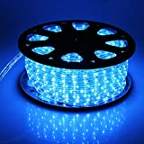 Christmas Lighting Blue LED Rope Light 150ft Waterproof Flexible Strip Indoor and Outdoor Patio
