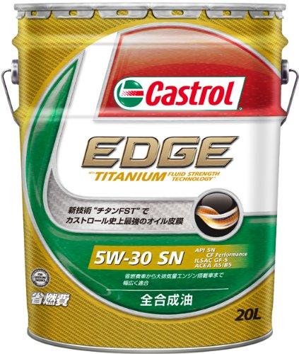 CASTROL ( カストロール ) ガソリン車用エンジンオイル EDGE [ エッジ ] 5W-30 [ SN ] 全合成油 [ 20L ]