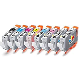 TS 8-PK Canon CLI-42 CLI42, compatible ink cartridges for Canon PIXMA PRO-100 printers (1 Black, 1 Cyan, 1 Gray, 1 Light Gray, 1 Magenta, 1 Yellow, 1 Photo Cyan, 1 Photo Magenta)