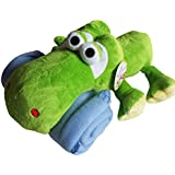 2 Pc Blanket Cute Cuddly Plush Toy Set- Hippo, Puppy, Frog, Or Monkey (Frog Green/Blue)