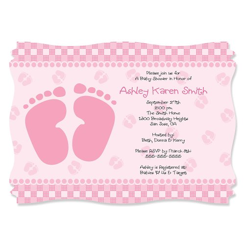 Baby Feet Pink - Personalized Baby Shower Invitations front-795941