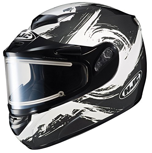 2014 Hjc Cs R2 Contrast Electric Snowmobile Helmet - X-Small