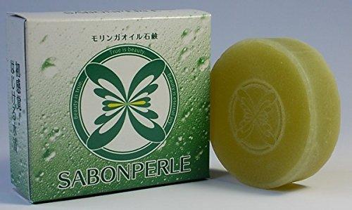 ライフパピヨンシリーズ サボンペルル モリンガオイル石鹸 お徳用80g
