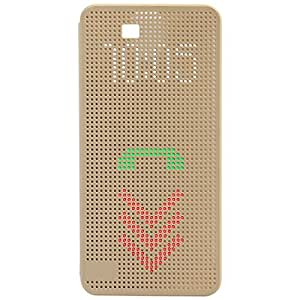 Garmor Dot View Flip Cover For HTC One (M8) - Gold
