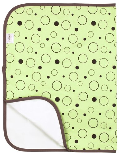 Best Kushies Deluxe Flannel Change Pad, Green Crazy Bubbles Guides