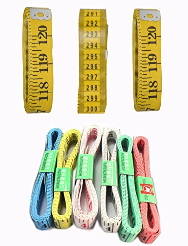 Lowest Prices! 120 Inch/300 CM Extra Long Soft Vinyl Tape Measures Set of 3 Plus Set of 6 Soft Vinyl...
