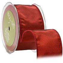 May Arts 3-Inch Wide Ribbon Red Taffeta