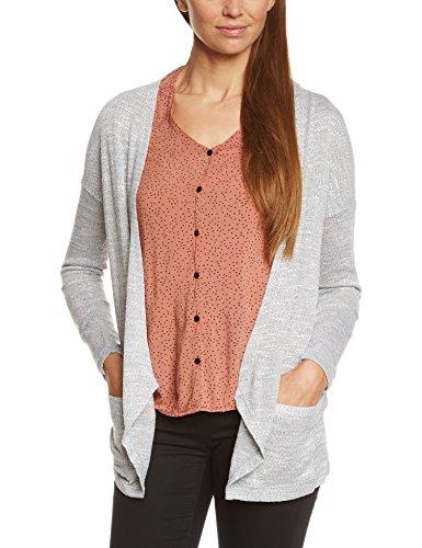 VILA CLOTHES - Viparel Cardigan, Maglioni da donna,  manica lunga, grigio(grau (light grey melange)), L
