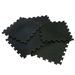 "Rubber-Cal ""Eco-Drain"" Interlocking Rubber Tiles - 5/8 x 20 x 20 inch"
