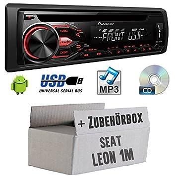 Seat Leon 1M - Pioneer DEH-1800UB - CD/MP3/USB Autoradio - Einbauset