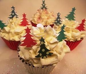 Edible Christmas Cake Images : Christmas Cake Decorations - Edible Wafer Cupcake ...