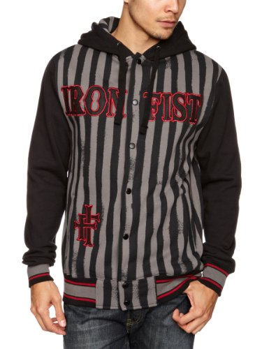 Iron Fist Combantant Zip Hoodie Men's Jumper Black XX-Large