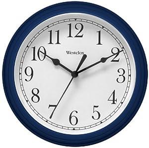 westclox 46985 9 round wall clock blue home