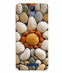 Case Cover Stone Printed Yellow Soft Back Cover For Gionee P7 MAX