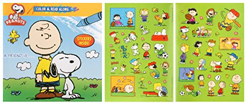 Peanuts Color and Read Along Book with Stickers - A Friend Is... - 1