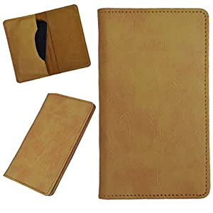 DCR Pu Leather case cover for Celkon Q452 (yellow)
