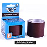 """Match 'N Patch Realistic Red-Brown Leather Tape - 1.88"""" X 15'"""