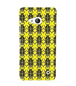 Printvisa Premium Back Cover Yellow And Black Beetle Pattern Design For Microsoft Lumia 550::Nokia Lumia 550