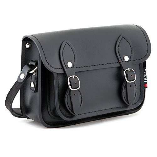 The Tilney Mini Leather Yoshi Satchel (Black)
