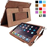 iPad Air 2 Case, Snugg™ - Smart Cover with Flip Stand & Lifetime Guarantee (Distressed Brown Leather) for Apple iPad Air 2 (2014)
