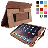 Snugg⢠iPad Air 2 Case - Smart Cover with Flip Stand & Lifetime Guarantee (Distressed Brown Leather) for Apple iPad Air 2 (2014)