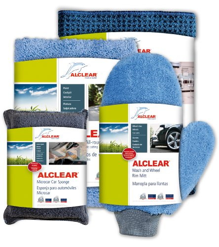 ALCLEAR U.S. 8201000GS Pro's Car Care Set: Paintwork care, windscreen cleaning, drying, wheel cleaning, interior cleaning - (Polishing, paint cleaning, cockpit care) gift set, German quality product