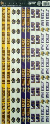 Sports Solution LSU Tigers Border Sticker - 1