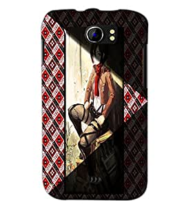PrintDhaba Stylish Girl D-4967 Back Case Cover for MICROMAX A110 CANVAS 2 (Multi-Coloured)