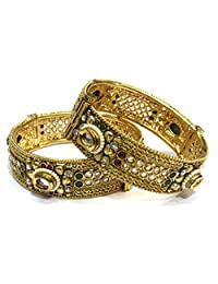 Shingar Jewellery Ksvk Jewels Antique Gold Plated Bangles Set For Women (5952-m-2.4)