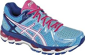 ASICS Women's Gel kayano 21 Running Shoe,Powder Blue/White/Hot Pink,5 M US