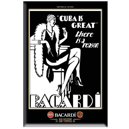 plaque-en-tole-emaillee-black-white-by-bacardi-style-vintage