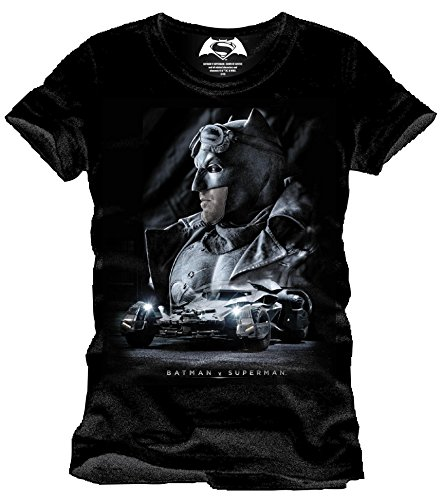 Batman v Superman Batmobile T-Shirt nero XL