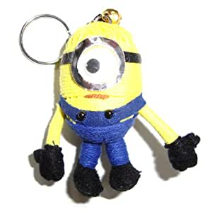 Amazon com minion voodoo string doll keyring keychain toys amp games