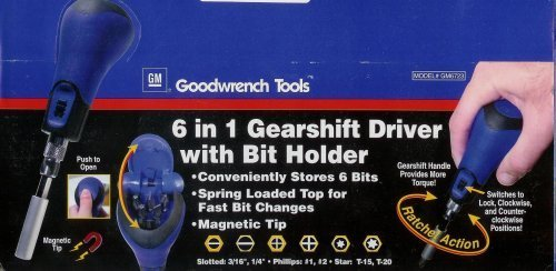 6 in 1 Gearshift Driver with Bit Holder (Goodwrench Tools compare prices)